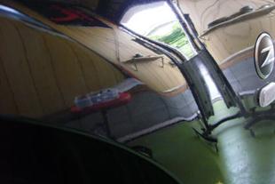 施行前 日産フェアレディZ(Z33)・・・フロントフェンダー(10センチ)